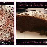 recette Gâteau du dimanche au chocolat