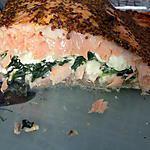 recette Filet de saumon farci épinards et bleu