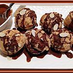 recette Choux craquelins vanille à la sauce chocolat