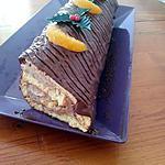 recette Bûche crème de marrons/mascarpone, chocolat, clémentines
