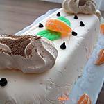 recette bûche glacée clémentines-meringues