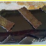recette Cake bûche chocolat mascarpone et glaçage brillant