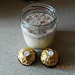 recette Yaourts aux Ferrero rochers