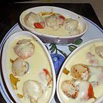 recette Cassolettes de st jacques au cidre