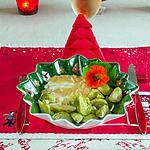 recette Bar aux choux de Bruxelles et capucines