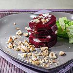 recette Millefeuille de betteraves aux noisettes et fromage frais