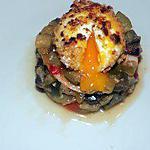 recette Oeuf pané sur lit de ratatouille