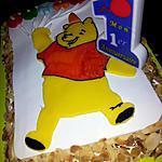 recette Mon premier gâteau d'anniversaire *winnie l'ourson* pour souffler ma premiére bougie