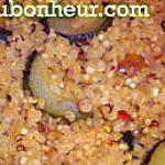 recette Quinoa aux légumes fondants, sésame et noisettes concassées, façon risotto