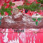 recette Buche de Noël  à la mousse au chocolat noir