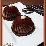 recette Dômes Chocolat noir et Noix de coco