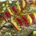 recette tajine de poisson  pour le dimanche tout en couleurs...