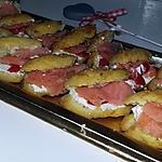 recette Minis éclairs salés au saumon boursin