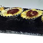 recette Barquette apéritive au foie gras confit de figue et tranche de canard séché