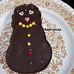 recette Bonhomme de neige au chocolat noir (ou barbapapa comme dit Flora)