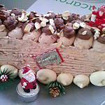 recette bûche praliné chocolat