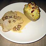 recette Rôti de porc champignon crème au cognac