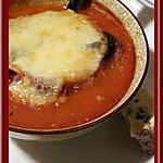 recette Soupe de tomates gratinée à la Fourme Persillée