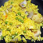recette Riz safrané champignon & Petits pois