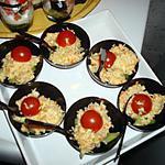 recette mini verrine au crabe et au concombre