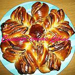 recette Brioche étoilé à la pâte à tartiner