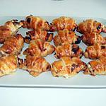 recette Mini croissants au saumon et fromage aux fines herbes