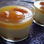 recette Splendide Verrine: Crème de calissons (maison) et oreillons d'abricots confits