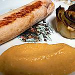 recette Ballottine de dinde au foie gras, pommes Granny Smith et sel de Camargue à la truffe/rose de p-d-t sel de truffe