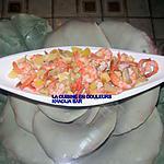 recette Salade de crevettes à l'ananas et aux champignons