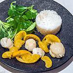 recette Saint jacques aux mandarines