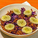 recette Salade de chou rouge et carottes aux pommes et bananes