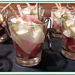 recette Verrines de Serrano à l'espuma de fèves