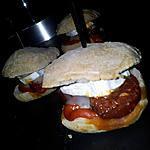 recette Mini burger *apéritif* au chorizo et chévre