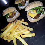 recette Mini burger aux boulettes de viande et cheddar