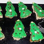 recette Petits gâteau sapin de Noël