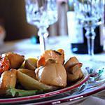 recette Emincé d'artichauts et saint-Jacques à l'huile de noisette