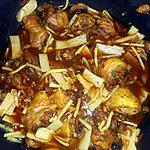recette Cuisses de poulet aux pousses de bambou