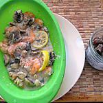recette crevettes , champignons, citron ,  sauce aigre douce, gingembre confit