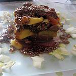 recette aiguillettes de canard  poélées aux pommes et abricots de carmen