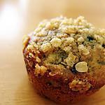 recette Muffins aux bleuets-citron avec sa garniture de flocons d'avoine