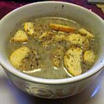 recette potage endive,    fenouil;   patate douce