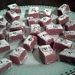 recette PETITS CARRES ROSES