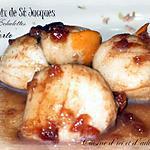 recette Noix de st Jacques au porto et aux échalotes