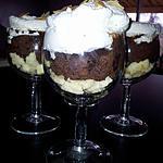 recette Coupes de bananes et mousse au chocolat viennoise