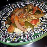 recette Couscous au chipolatas et petit légumes