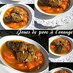 recette Joues de porc à l'orange , zathar et citronelle,