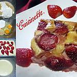 recette Clafoutis aux fraises et crème fraiche.