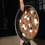 recette steack haché , chorizo
