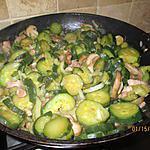 recette courgettes sautée aux lardon champignons