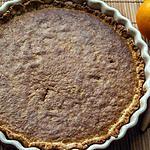 recette Tarte aux noisettes et zestes d'orange